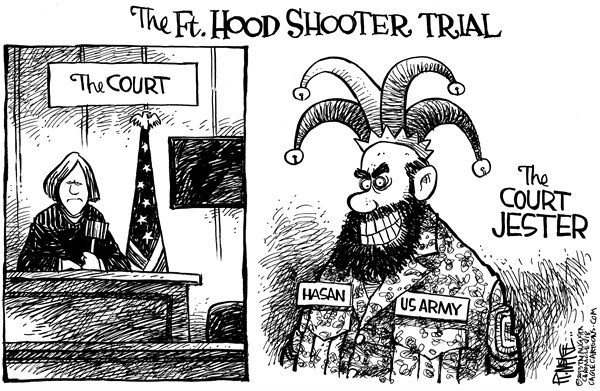 Rick McKee - The Augusta Chronicle - Ft Hood Court Jester - English - Fort Hood, Ft Hood, Nidal Hasan