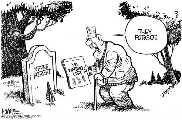 Rick McKee - The Augusta Chronicle - VA Memorial Day  - English -
