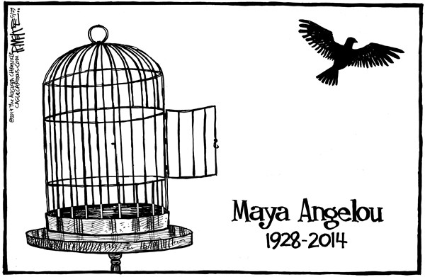 Rick McKee - The Augusta Chronicle - Maya Angelou - English - Maya Angelou