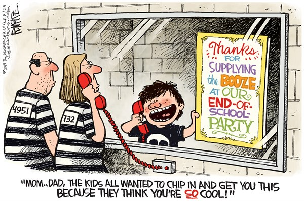 End of School Party © Rick McKee,The Augusta Chronicle,School, alcohol, minors
