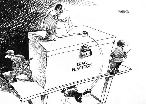 Petar Pismestrovic - Kleine Zeitung, Austria - iraq election - English - iraq, usa, military, terrorism,  world, war, peace, democracy, election, elections, bomb, grenade, bombs, terrorist, terrorists, terror, democratic