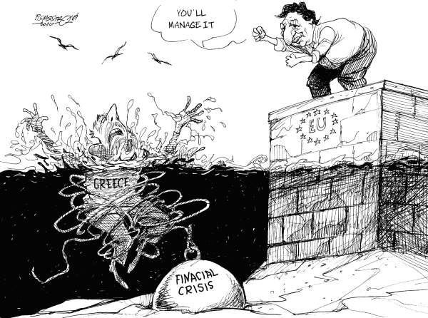 Petar Pismestrovic - Kleine Zeitung, Austria - Encouragement - English - Greece, EU, Europe, USA, Financial Crisis, Barroso, Papandreou