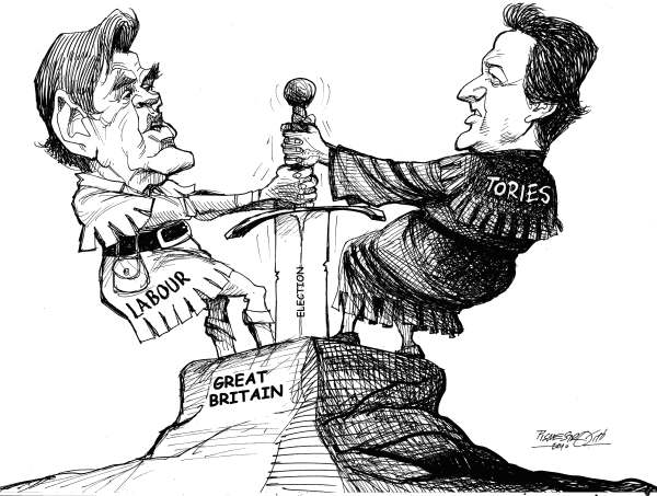 Petar Pismestrovic - Kleine Zeitung, Austria - British Election - English - Gordon Brown, David Cameron, Tories, Labour, Elections, Great Britain