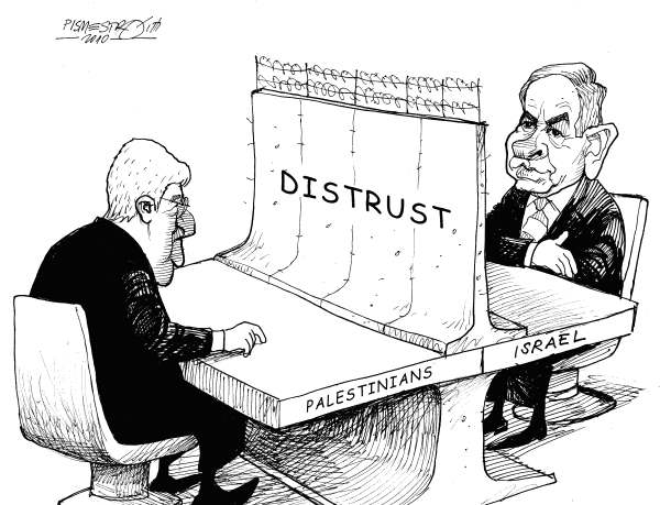 Petar Pismestrovic - Kleine Zeitung, Austria - Middle East Wall - English - Israel, Palestinians, Peace, USA, Obama, Netanyahu, Abbas,Obama