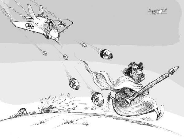 Petar Pismestrovic - Kleine Zeitung, Austria - Easter Bombs, COLOR - English - Easter Bombs, NATO, Libya, War, Africa, Oil, Khadaffi, Sarkozy, France