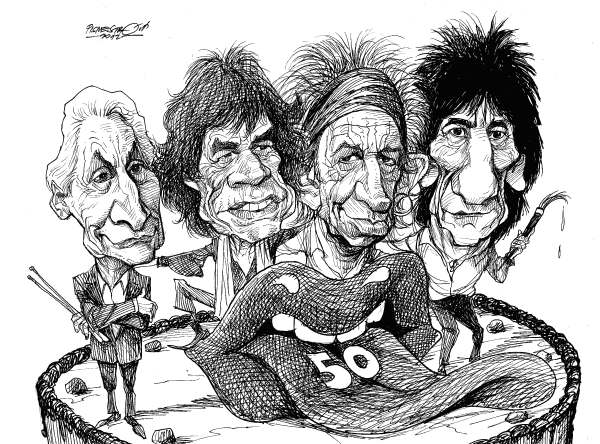 Petar Pismestrovic - Kleine Zeitung, Austria - Rolling Stones, Gold Jubilee - English - Rolling Sones, Mick Jagger, Charlie Watts, Keith Richard, Ron Wood