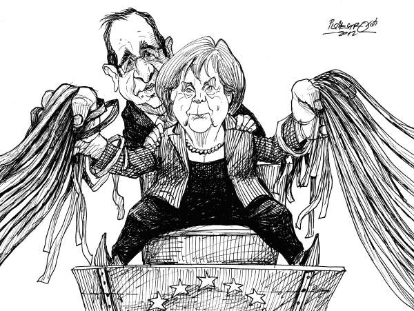 Petar Pismestrovic - Kleine Zeitung, Austria - Firmly in hand - English - Angela Merkel, Francois Hollande, Germany, France, Europe, Crisis, EU
