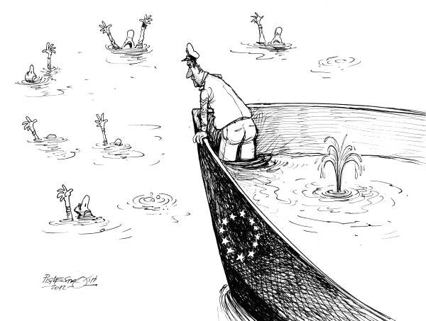 Petar Pismestrovic - Kleine Zeitung, Austria - Rescue Ship - English - EU, Europe, Crisis, Euro, Money, Economy,