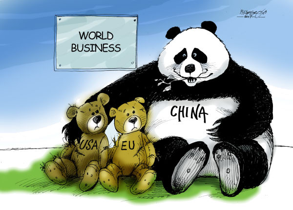 Petar Pismestrovic - Kleine Zeitung, Austria - Teddy-bears - English - China, USA, EU, Economy, Crisis, Money, Banks