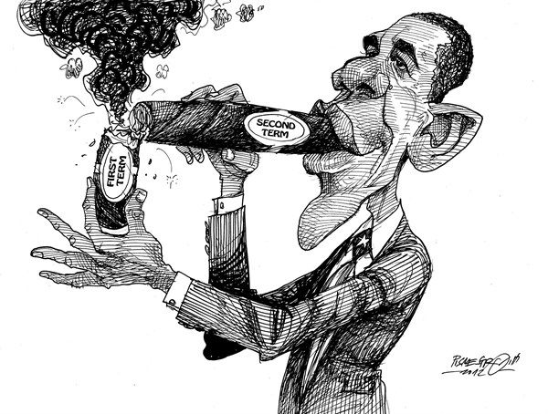 Petar Pismestrovic - Kleine Zeitung, Austria - Chain smoker - English - Barack Obama, President, USA, Democrats, World,