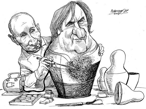 124960 600 Gerard Depardieu Granted Citizenship in Russia cartoons