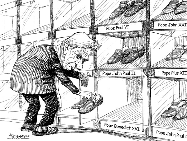 Petar Pismestrovic - Kleine Zeitung, Austria - Shoe Cabinet in Vatican - English - Pope Benedict XVI, Red Shoe, Vatican, Religion, Catolicism, Germany