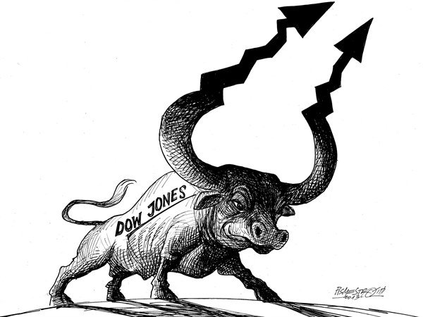 128403 600 Wall Street Bull cartoons