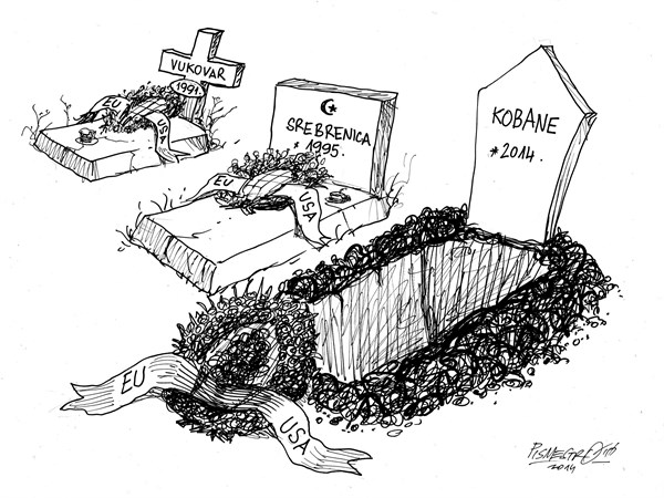 Without words © Petar Pismestrovic,Kleine Zeitung, Austria,Srebrenica, Vukovar, Kobane, War, ISIS, Turky, Croatia, Serbia, Bosnia and Herzegowina