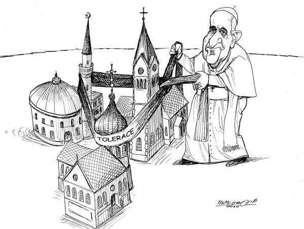 156853 600 The pope Francis Connestions cartoons