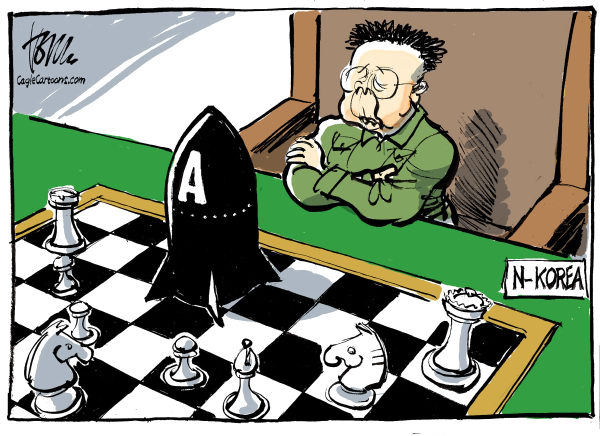 Tom Janssen - The Netherlands - game North Korea - English - 		North Korea,atom bomb,chess