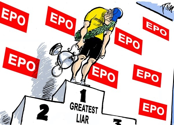 Armstrong confession © Tom Janssen,The Netherlands,Armstromg confession,cycling EPO,armstrong admission