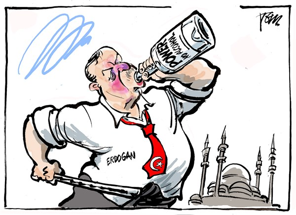 Tom Janssen - The Netherlands - Erdogan drunk - English - Erdogan and alcohol, Erdogan and power, Erdogan and islam,Erdogan authoritarian, Erdogan and opposition, Taksim square,