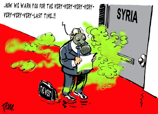 Tom Janssen - The Netherlands - very last warning Syria - English - warning, Syria, chemical weapons,