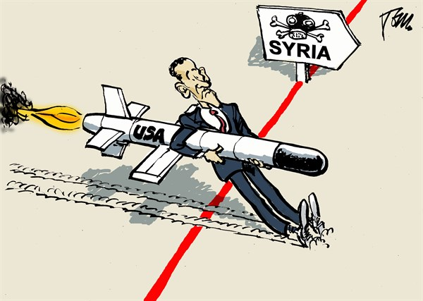 Tom Janssen - The Netherlands - Obama and the Syria Red Line - English - Syria,red line,chemical weapons