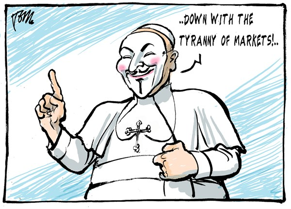 Tom Janssen - The Netherlands - pope against tyranny of markets - English - Pope Francis, pope for occupymovement,