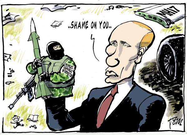 151349 600 Putin and Ukraine separatists cartoons