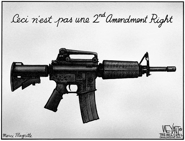 Christopher Weyant - The Hill - If Only It Was Just A Pipe - English - Sandy Hook, tragedy, Connecticut, CT, shooting, school, NRA, gun control, Adam Lanza, mental illness, Congress, GOP, semi-automatic, assault weapons, Brady, Obama