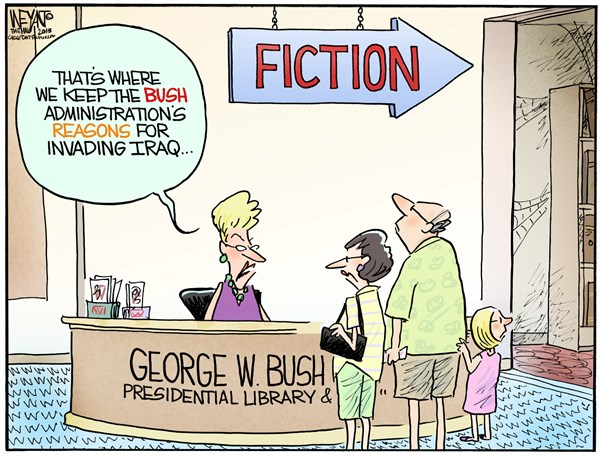 130816 600 Bush Library cartoons