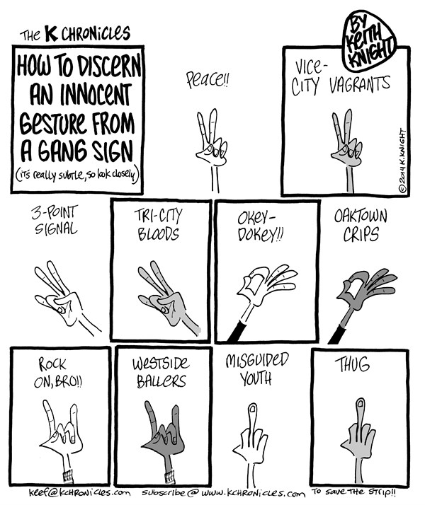 144273 600 Guide to Recognizing Gang Signs cartoons