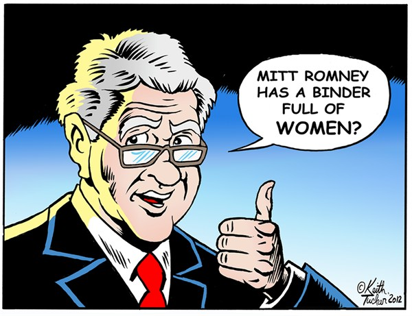 120911 600 Mitt Romneys binders full of Women cartoons