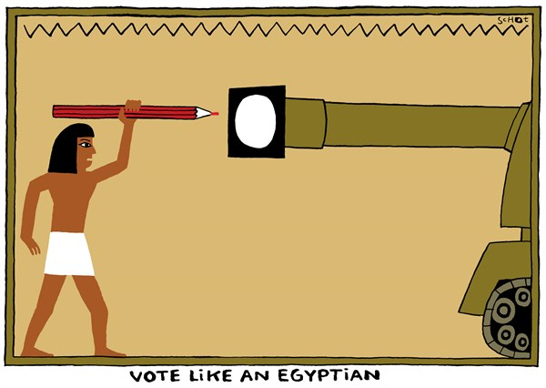 Schot - De Volkskrant, Netherlands - Egypt - English - egypt,pencil,vote