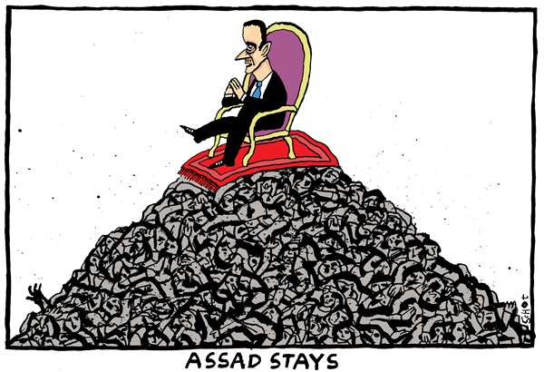 Schot - De Volkskrant, Netherlands - Assad stays - English - Assad, peace talks, geneva, syria, iran, russia, civil war