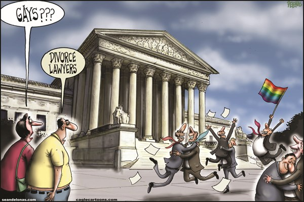 DOMA overturned © Sean Delonas,CagleCartoons.com,Supreme Court,Defense of Marriage Act,DOMA,Gays