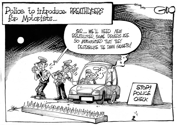 140928 600 Police to introduce breathlysers for motorists cartoons