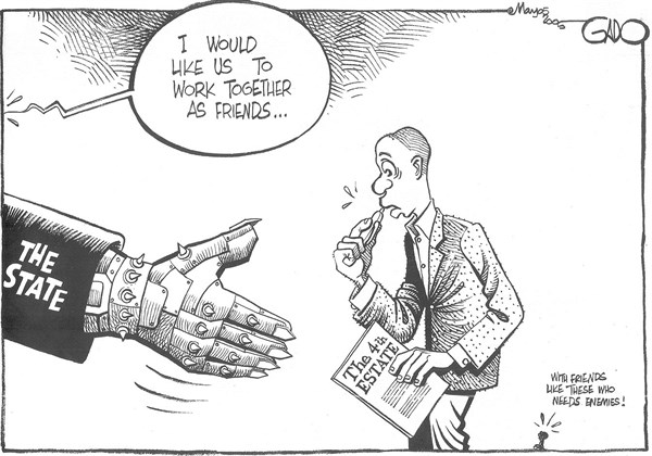 I would like us to work together as friends © GADO,gadocartoons.com,The State, Kenya