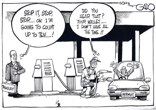 Oil dealer © GADO,gadocartoons.com,Treasury, Oil, Motorist