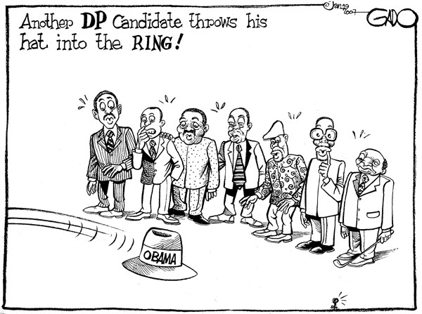 Another DP candidate throws his hat into the ring © GADO,gadocartoons.com,Kenya, Politics,