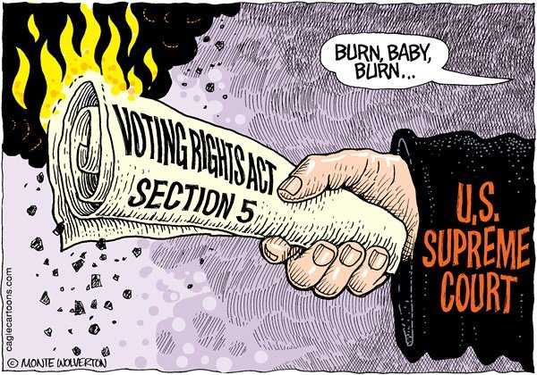122596 600 Voting Rights Act Under Fire cartoons