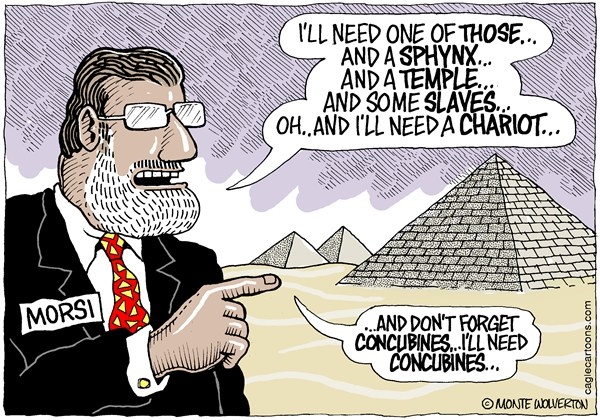 122889 600 Pharoah Morsi cartoons