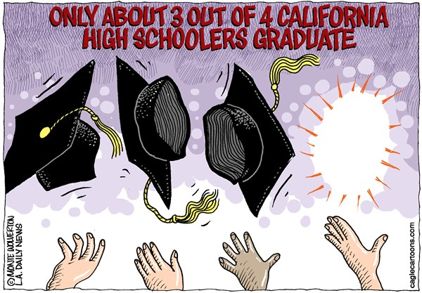123151 600 LOCA CA Hi School Graduation Rate cartoons
