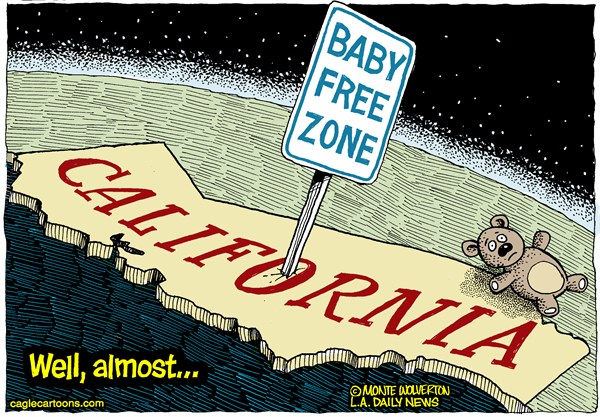 126050 600 LOCAL CA Declining Calif Birthrate cartoons