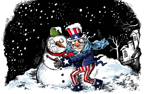 Pangli  - China Daily - Uncle Sam is Freezing - English -