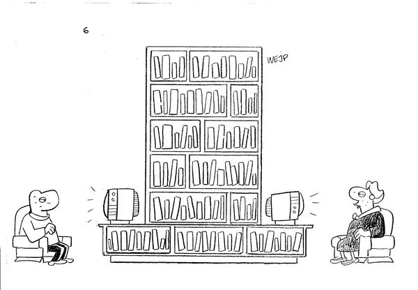 Werner Wejp-Olsen - Denmark, Politicalcartoons.com - TV and Books - English - Books TV  literature  illiteracy reading