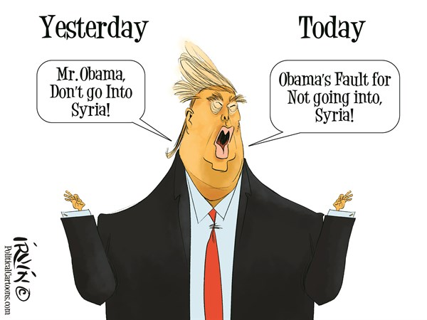 Image result for lies on Syria CARTOON