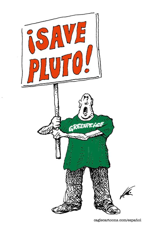 Antonio Neri Licón - El Economista, Mexico - New Cause - English - pluto, astronomy, planet, planets, space, solar system, greenpeace, extinction, endanger, endangered, protest, species