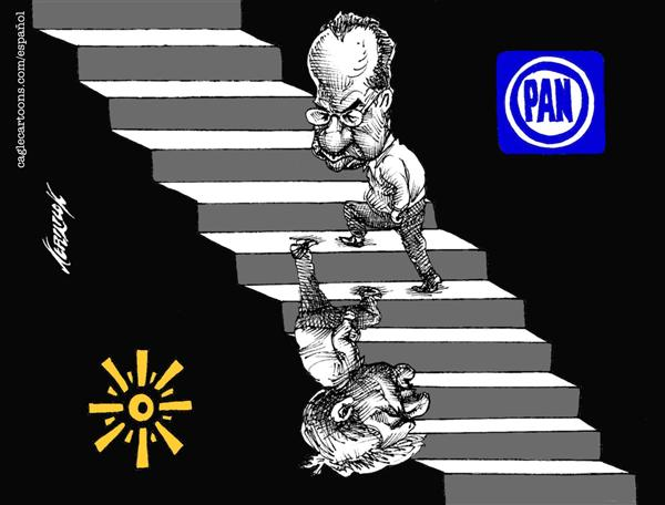 Antonio Neri Licón - El Economista, Mexico - Election in Mexico - English - election, elections, vote, voting, party, parties, politics, calderon, obrador, stair, stairs, climbing, PAN, PRD