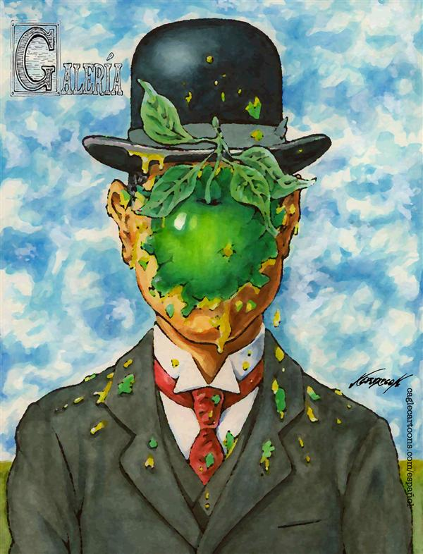 Antonio Neri Licón - El Economista, Mexico - Gallery: Magritte - English - rene, magritte, gallery, art, masterpiece, museum, surrealism, surreal, paint, painting, humor, parody