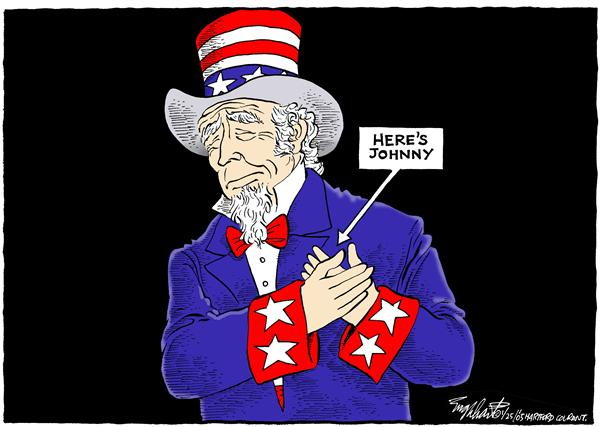 Bob Englehart - The Hartford Courant - Johnny Carson - English - Johnny, Carson, death, uncle, sam, memorial