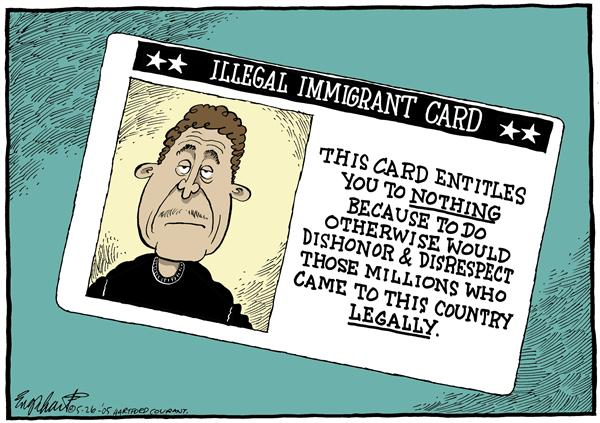 15977 600 Illegal Immigrants cartoons