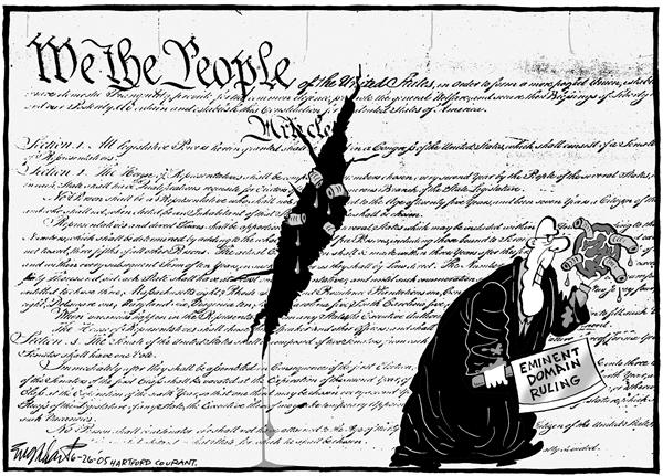 Bob Englehart - The Hartford Courant - Screwed by SCOTUS - English - supreme, court, eminent, domain, Constitution, we, the people, ruling, screwed, by, SCOTUS